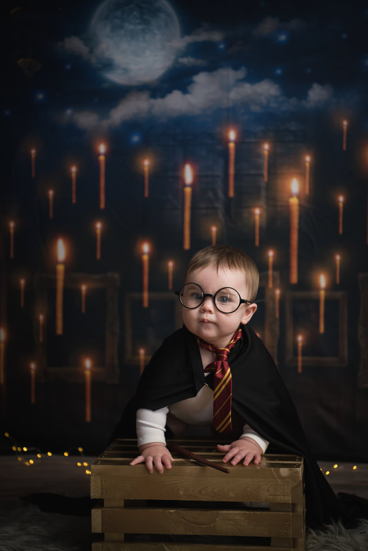 Harry Potter child in studio at Lovely Day Events