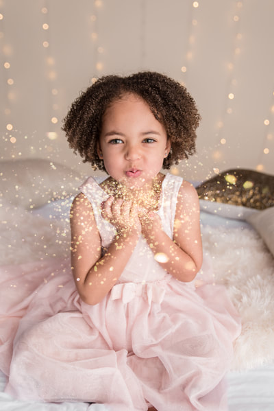 Girl gold glitter session in Murrysville